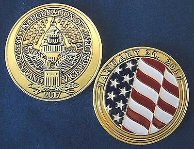 President Donald Trump 2017 Challenge Coin - Inaugural Committee Issued - Pence