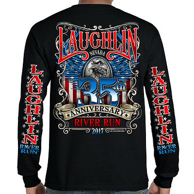 Biker Life USA 2017 Laughlin River Run America's Eagle Long Sleeve T-Shirt
