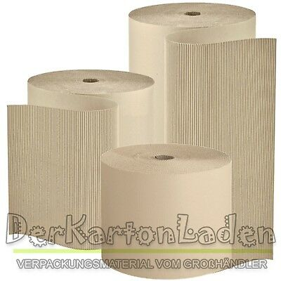 Wellpappe Polstermaterial Rollenwellpappe wahlweise 0,5 und 1,0 x 70 m