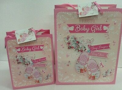 Birth of new baby girl  3d gift bags for presents new born