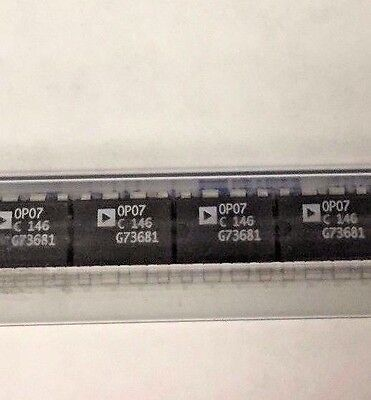 LINEAR I.C. OP07CP LOW OFFSET OP AMP Lot of 84.