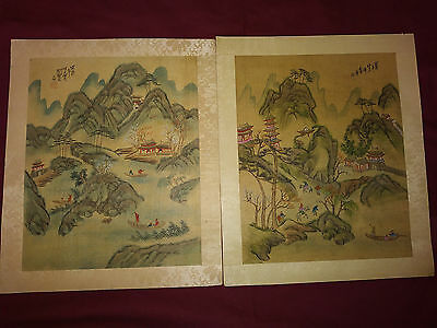 Antique Chinese  Paintings on Silk signed