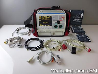 ZOLL M Series Biphasic 3 Lead ECG SpO2 etCO2  NIBP Pacing  Analyze Capnostat