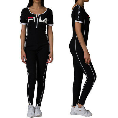 cfa4bd5083c NEW Fila High Neck Unitard Legging Jumpsuit With Front Zip LW171XS9 GINA  UNITARD