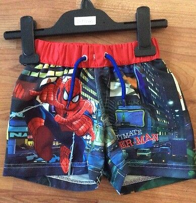 Spider-Man BabyBoys Swim Shorts Age 1-1.5 Years New Without Tags