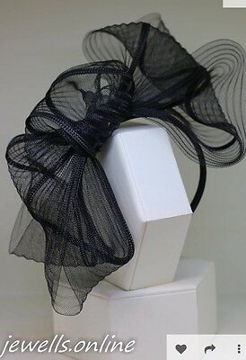 Black Mesh Headband Fascinator Wedding Ladies Race Day Accessories
