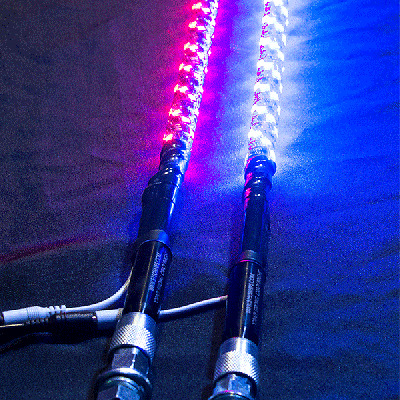 4 Ft - 20 Color 5150 Whips Lighted LED Whip w/ Flag - 19 Modes - UTV (1 WHIP)