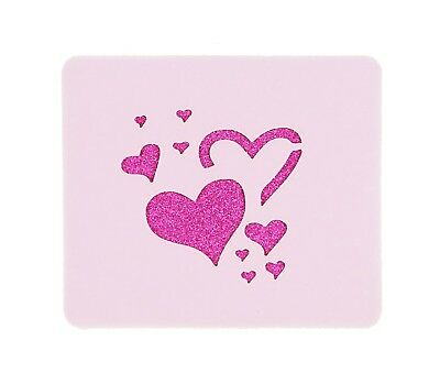 Random Hearts Face Painting Stencil 7cm x 6cm 190micron Washable Reusable Mylar