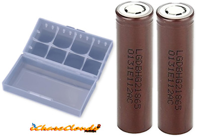 2 LG HG2 18650 3000mAh 20A HighDrain IMR Rechargeable Lion Battery Flat-Top 3.7v