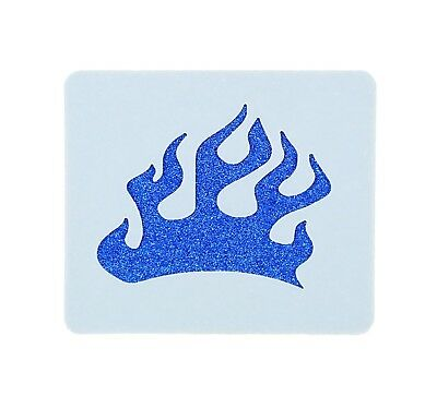 Small Flames Face Painting Stencil 7cm x 6cm 190micron Washable Reusable Mylar