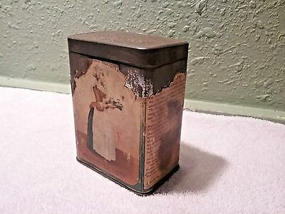 Antique Vintage Walter Baker & Co. Breakfast Cocoa Tin from 1906