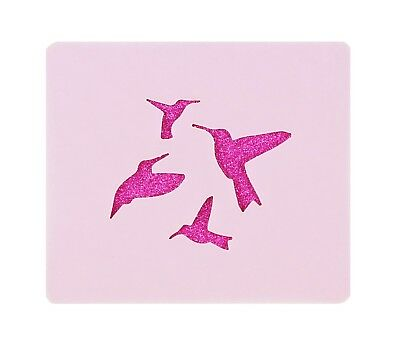 Hummingbirds Face Painting Stencil 7cm x 6cm 190micron Washable Reusable Mylar