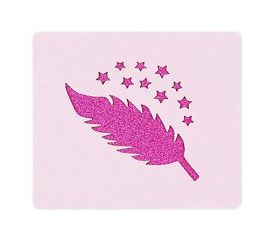 Stars Feather Face Painting Stencil 7cm x 6cm 190micron Washable Reusable Mylar