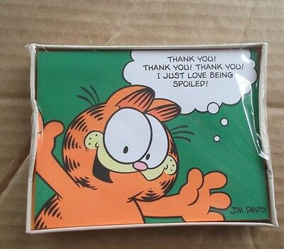SEALED VINTAGE 1978 Hallmark Garfield Jim Davis Thankyou cards notes FREESHIPPIN