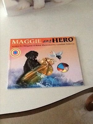 Newfoundland Dog Illustrated Story Maggie And Hero Margaret O'brien Signed