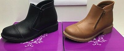 Ankle boots leather womens ladies Comfortable quality