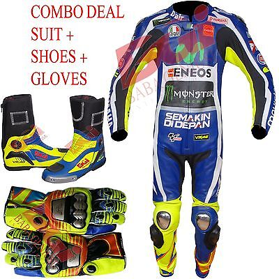 Vr 46 Combo Deal Suit + Boot + Shoes, Racing Biker Suit Motogp Motorbike Suit Vr