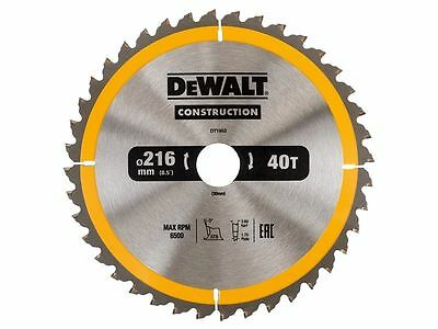 DeWalt DT1953QZ Construction Circular Saw Blade 216x30mm 40 Tooth