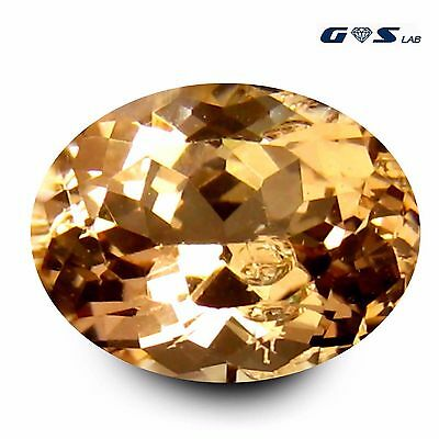 3.63 ct GSL Certified Impressive Oval Cut (11 x 9 mm) Morganite Loose Gemstone