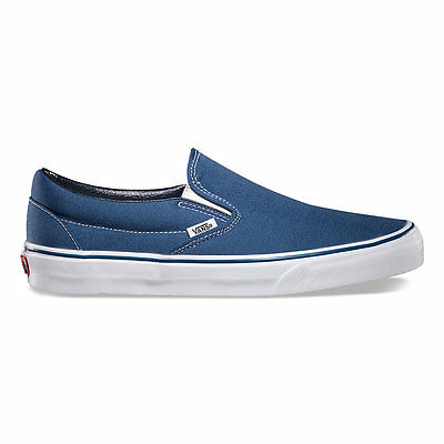 Vans CLASSIC SLIP-ON NAVY Canvas Shoes All Size Fast Shipping