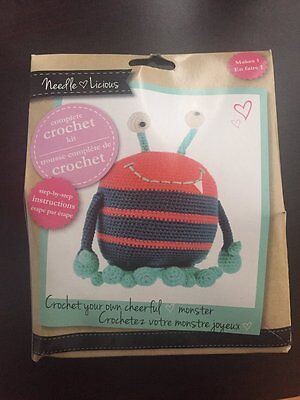 Needle Licious Cheerful Monster Complete Crochet Kit (NEW, SEALED)