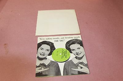 Wrigleys Doublemint Chewing Gum Ad 45 Record  Doublemint Twins Joan & Jayne