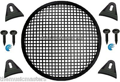 """1X Black PLASTIC 10"""" inch Sub Woofer Speaker WAFFLE GRILL Protective Cover VWLTW"""
