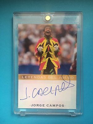 Jorge Campos Card with Authentic Autograph Pumas Photo Proof Legends