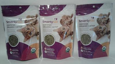 Lot of 3 SmartyKat Certified Organic Catnip, 1 oz