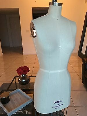PGM Industry Grade Professional Female Dress Form w Collapsible Shoulder Size 8