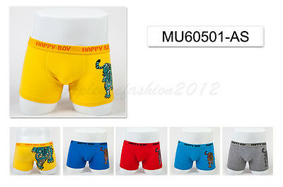 5pc Size 5 4-6 years Comfort Cotton Boys Boxers Briefs Tiger Kids Underwear