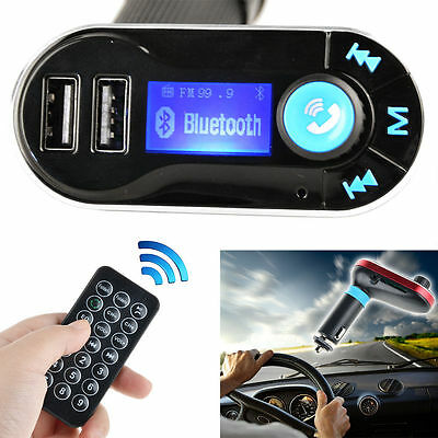 Bluetooth USB Car Charger MP3 Player FM Transmitter For iPhone 7 Plus Nexus 5X 6