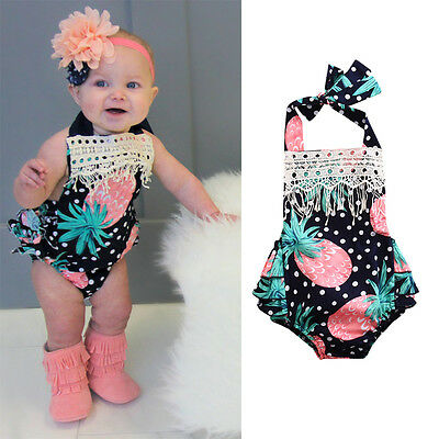 Floral Newborn Infant Baby Girl Bodysuit Romper Jumpsuit Clothes Summer Outfits