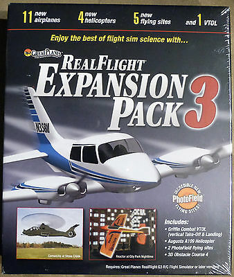 Great Planes RealFlight Expansion Pack 3    NEW and SEALED