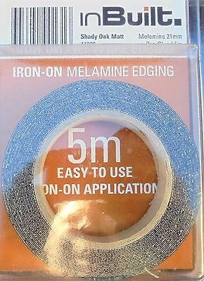 Melamine Edging Tape - 21mm x 5 - Ancient, Shady or Tibetan Oak - Matt Finish
