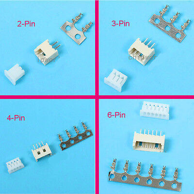 100 Sets Mini Micro JST GH1.25 1.25mm 2 3 4 5 6-Pin Connector Plug Female ,Male