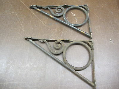 Vintage Shelf Brackets Steampunk Industrial Cast Iron Victorian Shelf Bracket
