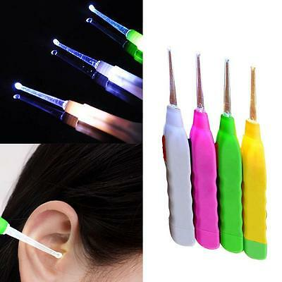 Ear Wax Remover Light Earpick Portable Pick Cleaner Tool Two Sizes Spoon Part DH
