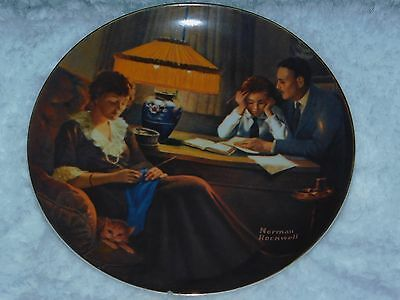 """""""Father's Help"""" By Norman Rockwell Collector Plate By Edwin Knowles"""