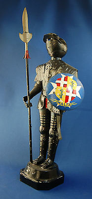 A rare antique medieval knight, suit of armour metal figure, from Malta