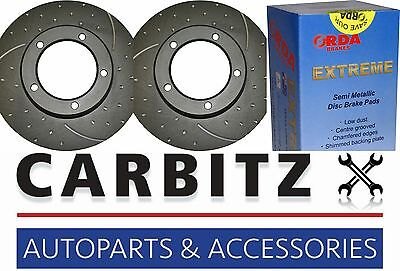 Ford Territory SX SY Turbo AWD/2WD RDA SLOTTED DIMPLED FRONT ROTORS + PADS