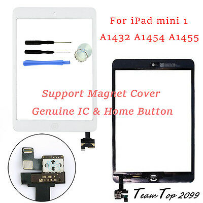 For IPAD mini 1 A1432 A1454 A1455 White Touch Screen Digitizer with Home button