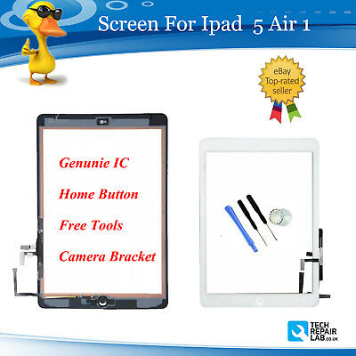 For iPad Air 1 A1474 A1475 A1476 White Touch Screen Digitizer Glass Replacement