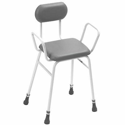 Pattersons Height Adjustable Perching Stool with Padded Back