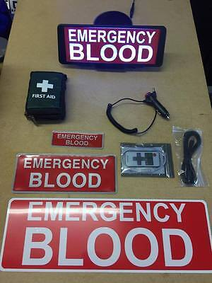 Emergency Blood vehicle set LED Univisor magnet first aid kit Bundle