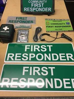 First Responder vehicle set LED Univisor magnet first aid kit Bundle