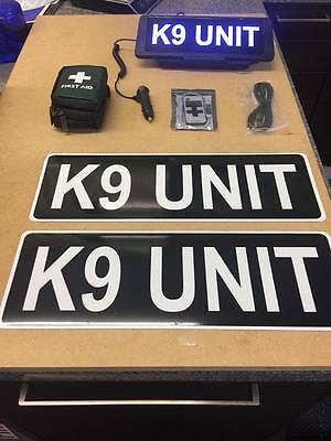 K9 Unit Dog vehicle set LED Univisor magnet first aid kit Bundle