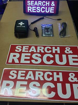 Search & Rescue RED vehicle set LED Univisor magnet first aid kit Bundle