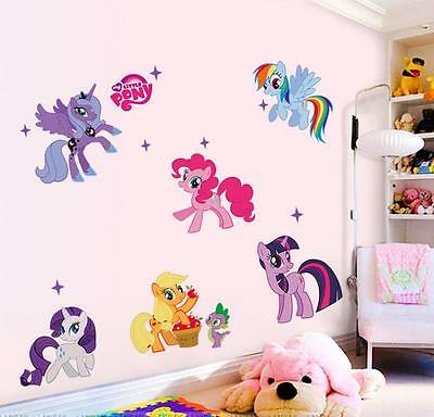 NewMy Little Pony Family Vinyl Mural Wall Sticker Decals Kids Nursery Decor B144