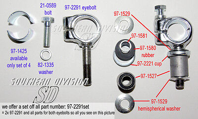 Triumph 63-85 BSA 1971 Handlebar P clamp Set incl rubbermounting all 97-2291set
